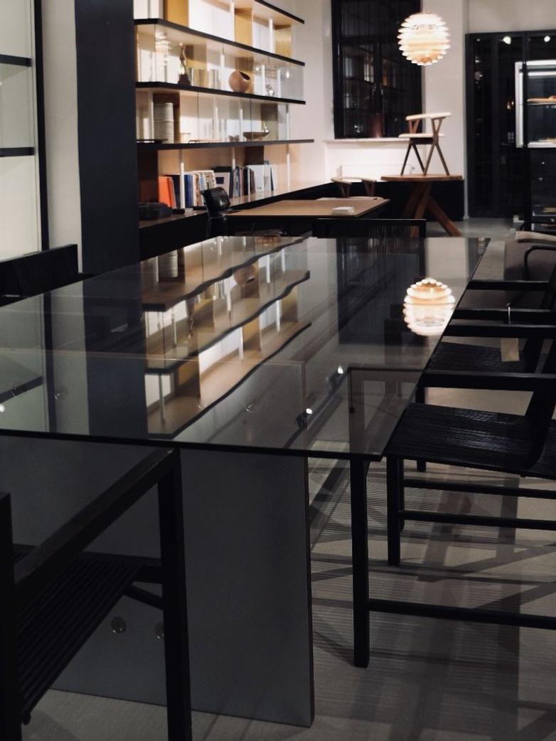 Bespoke Rectangular Glass Table - 260 x 120 cm
