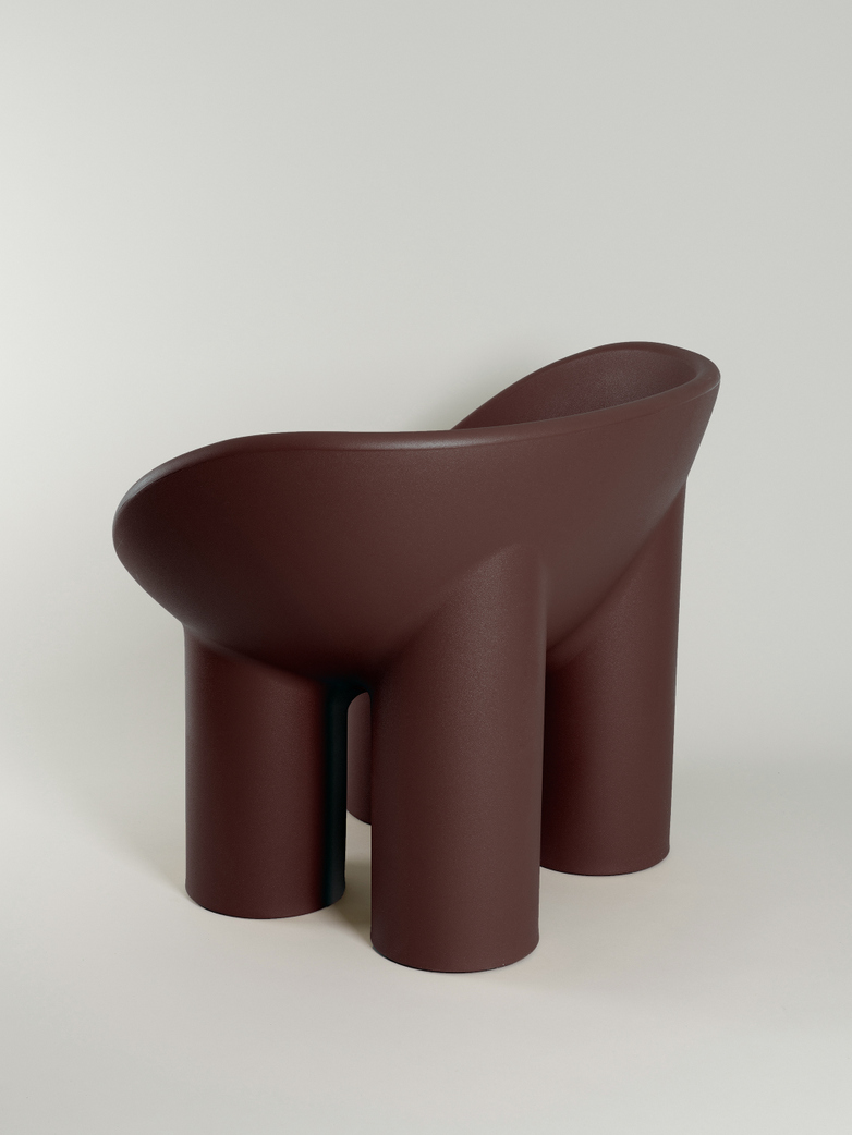 Roly Poly Armchair - Peat