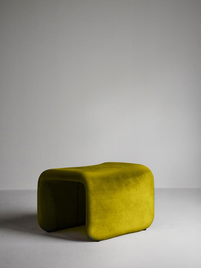 Etcetera Footstool – Turmeric Yellow
