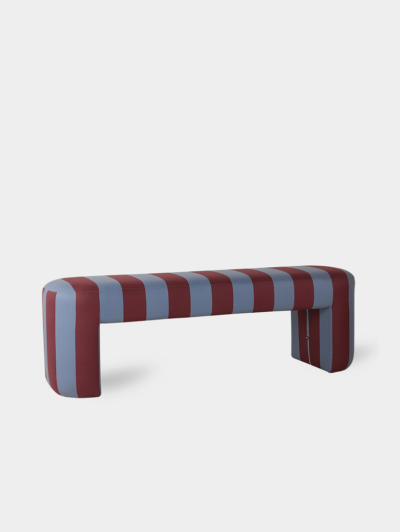 Lobby bench - striped blue/purple