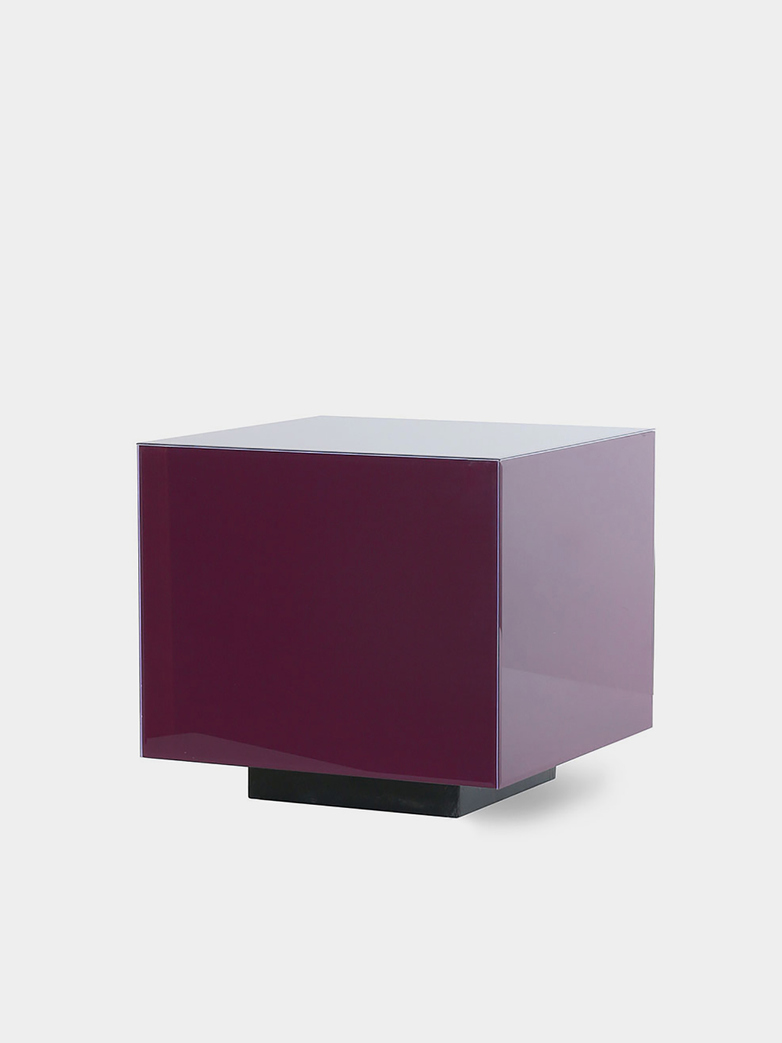 Mirror block table - purple - medium