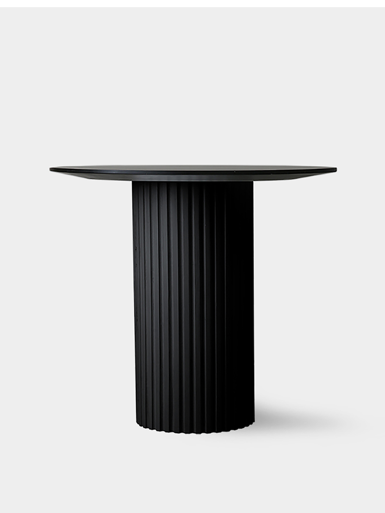 Pillar side table round - black