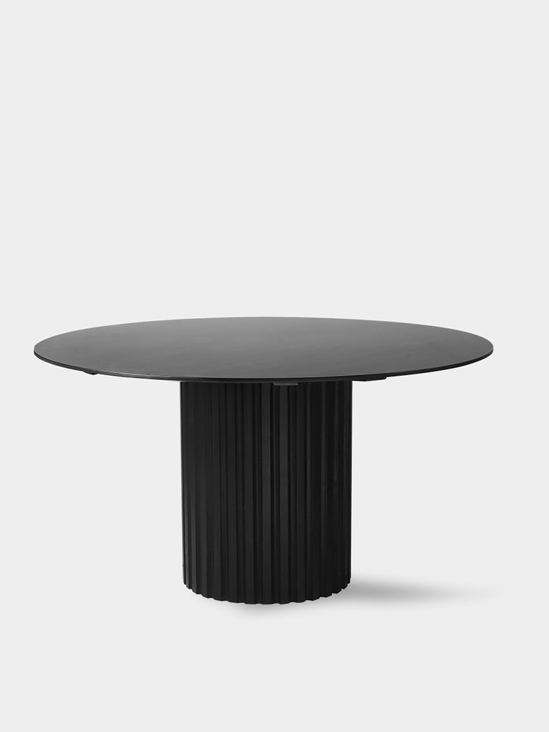 Pillar dining table round - black