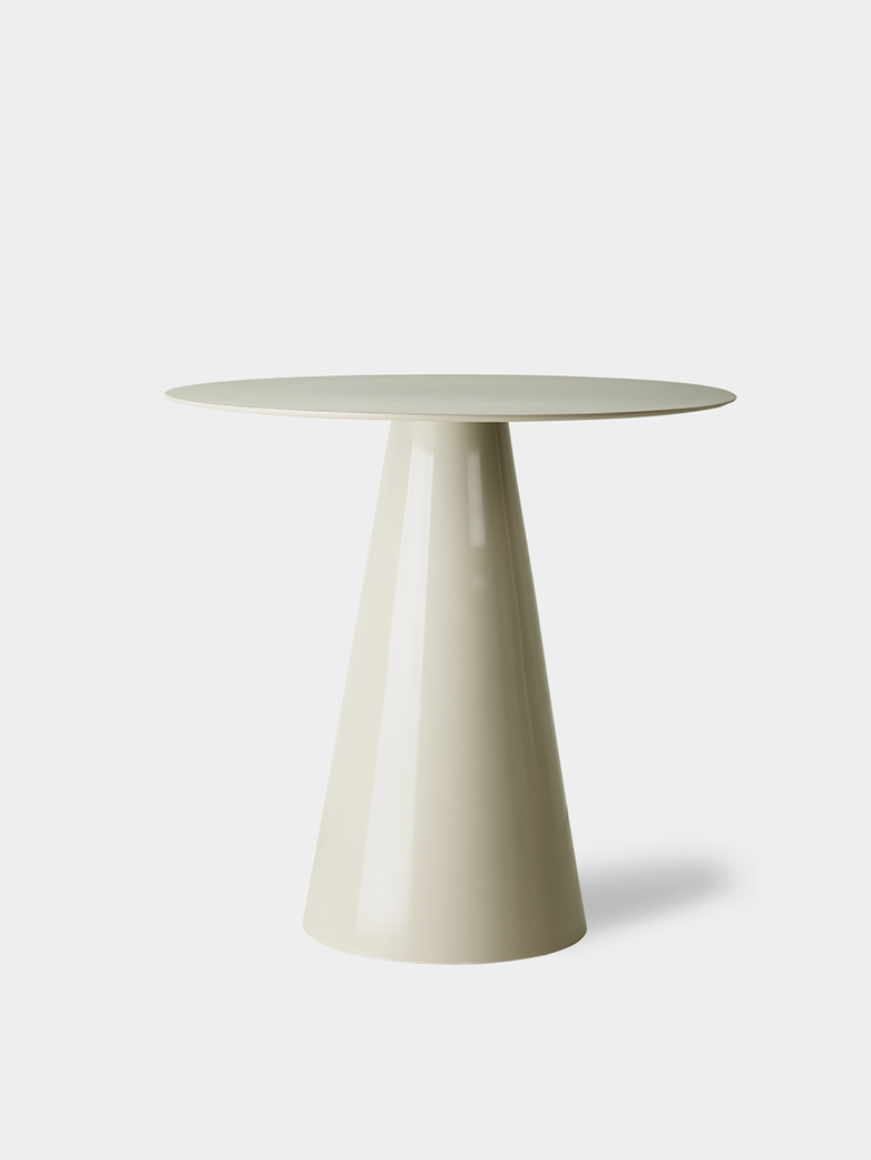 Cream metal side table -  large
