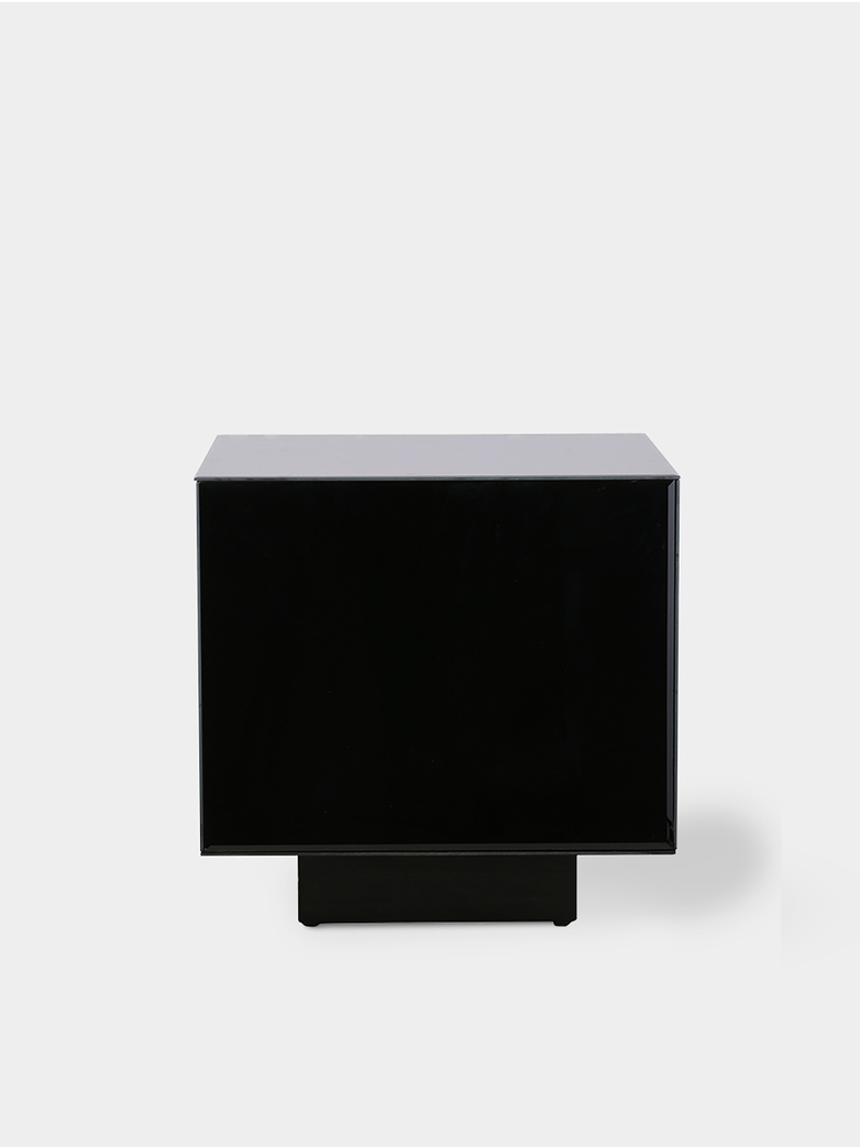 Mirror block table - black -  medium