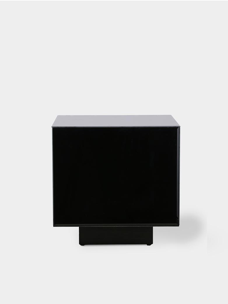 Mirror block table - black -  medium
