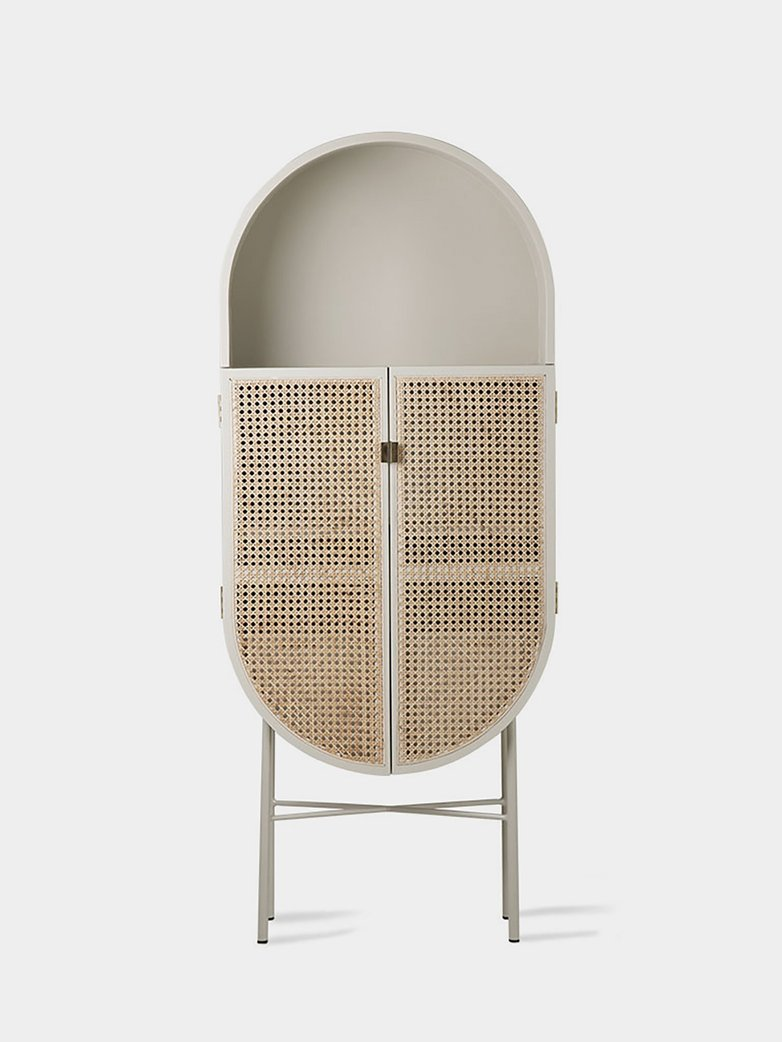 Retro oval cabinet -  light grey