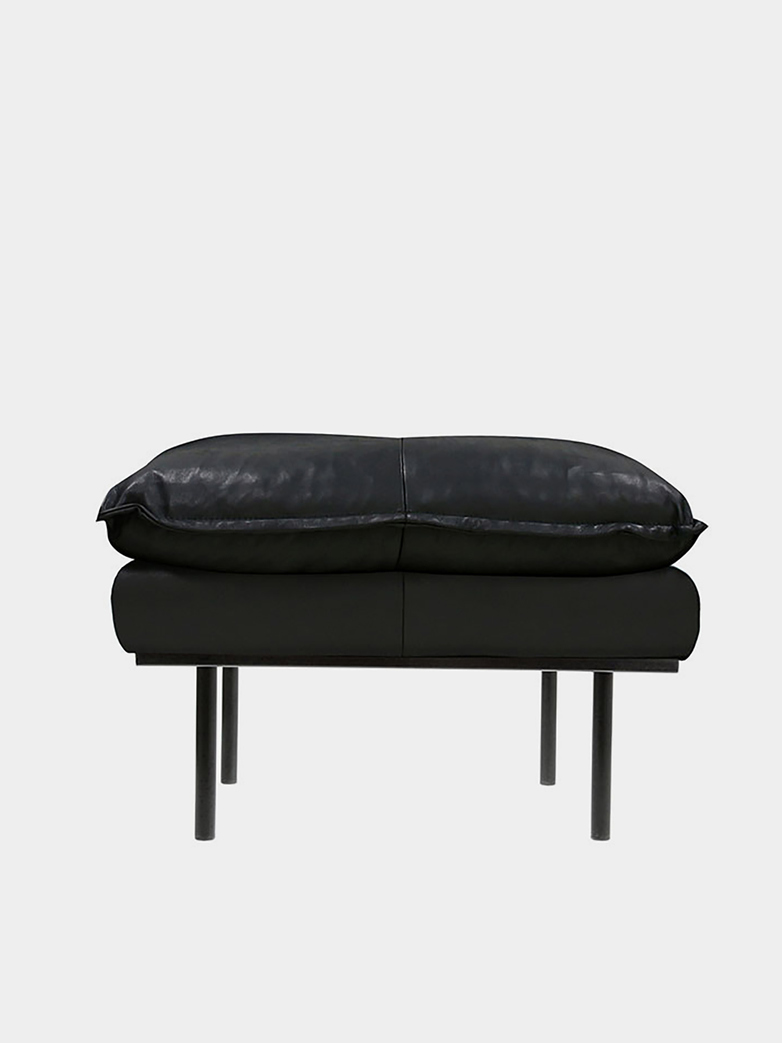 Retro Sofa - Black leather
