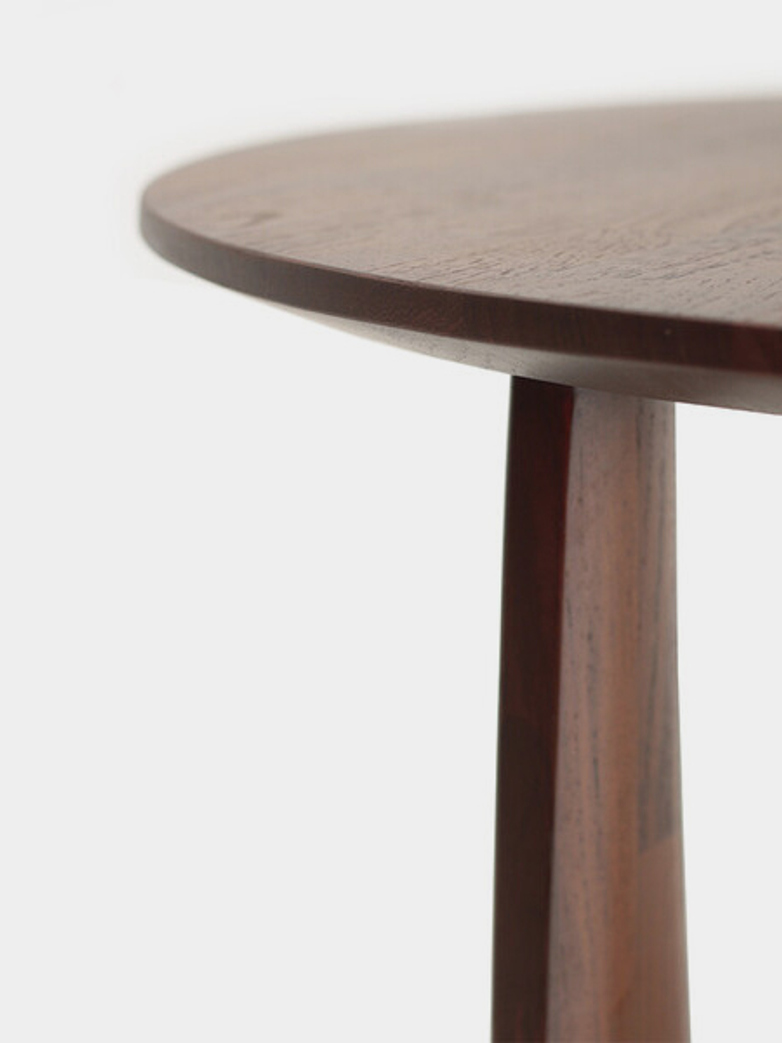Geometric Side Table – Teak Brown
