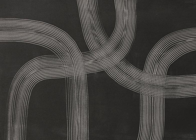 Lines 02 - 50 x 70 cm