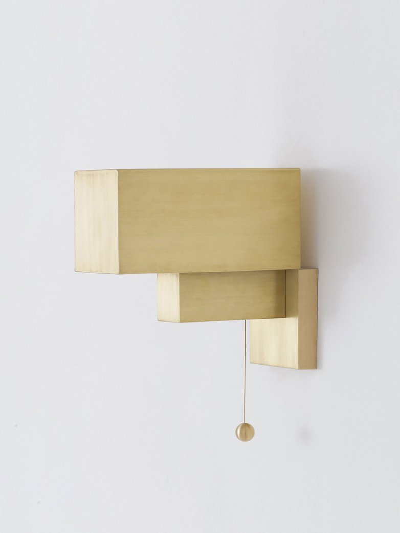 Block Wall Lamp - Brass