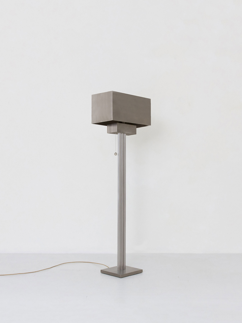Block Floor Lamp - Nickel
