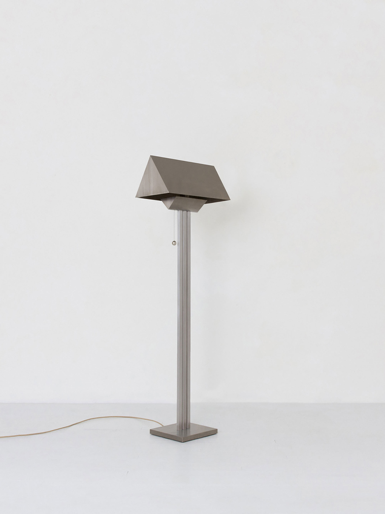 Gable Floor Lamp - Nickel