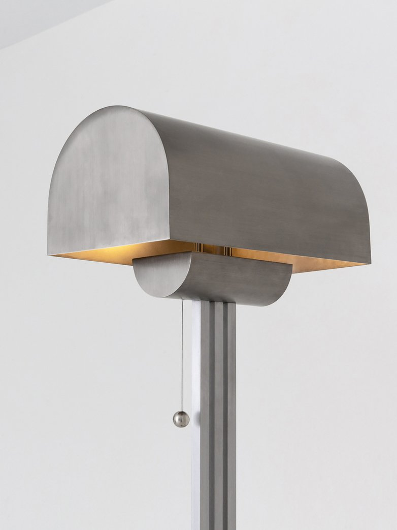 Vault Floor Lamp - Nickel