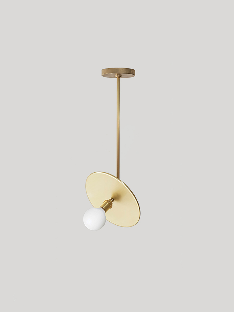 Industrial Pendant - Brass