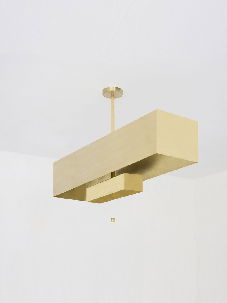 Block Pendant - Brass