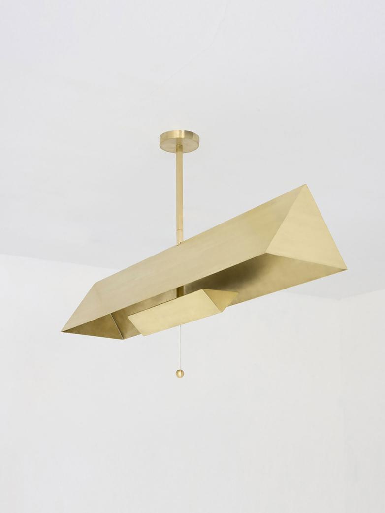 Gable Pendant - Brass
