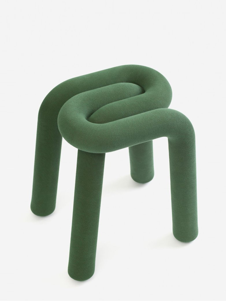 Bold Stool - Forest Green