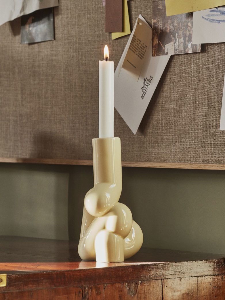 W&S Soft Candle Holder - Soft Yellow