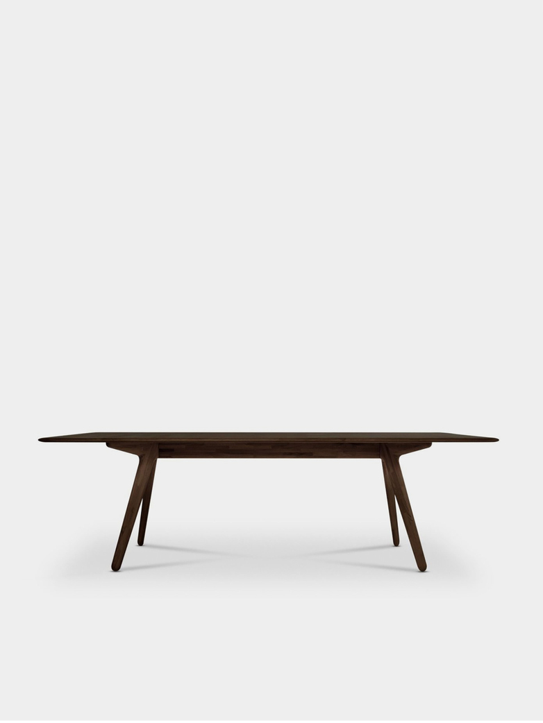 Slab Dining Table Fumed Oak - 240x100 cm