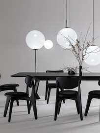 Slab Dining Table Black - 240x100 cm