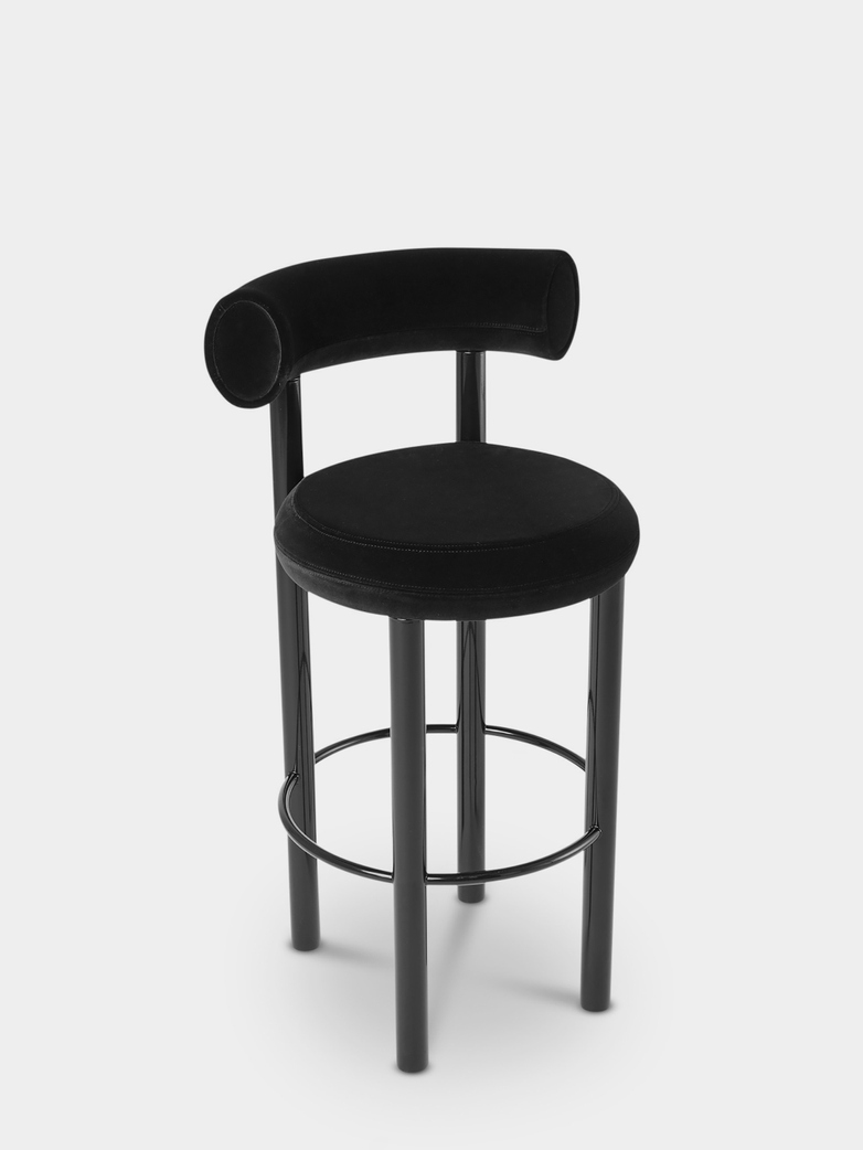 Fat Bar Stool - Black