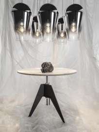 Screw Table - White Marble