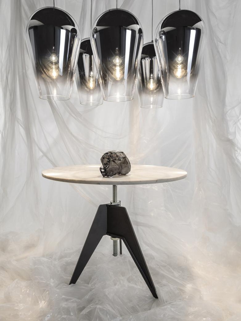Screw Table - White Marble