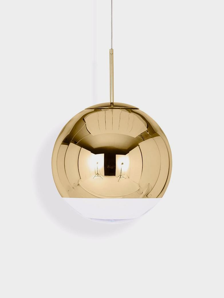 Mirror Ball Pendant - Brass