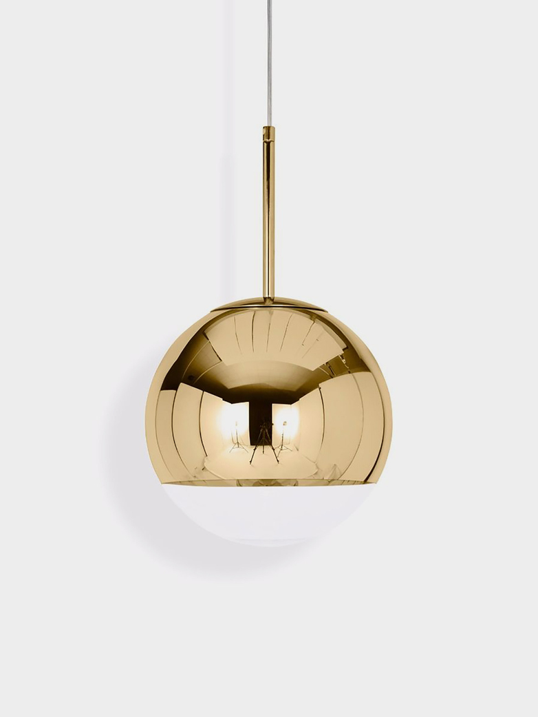 Mirror Ball Pendant - Brass