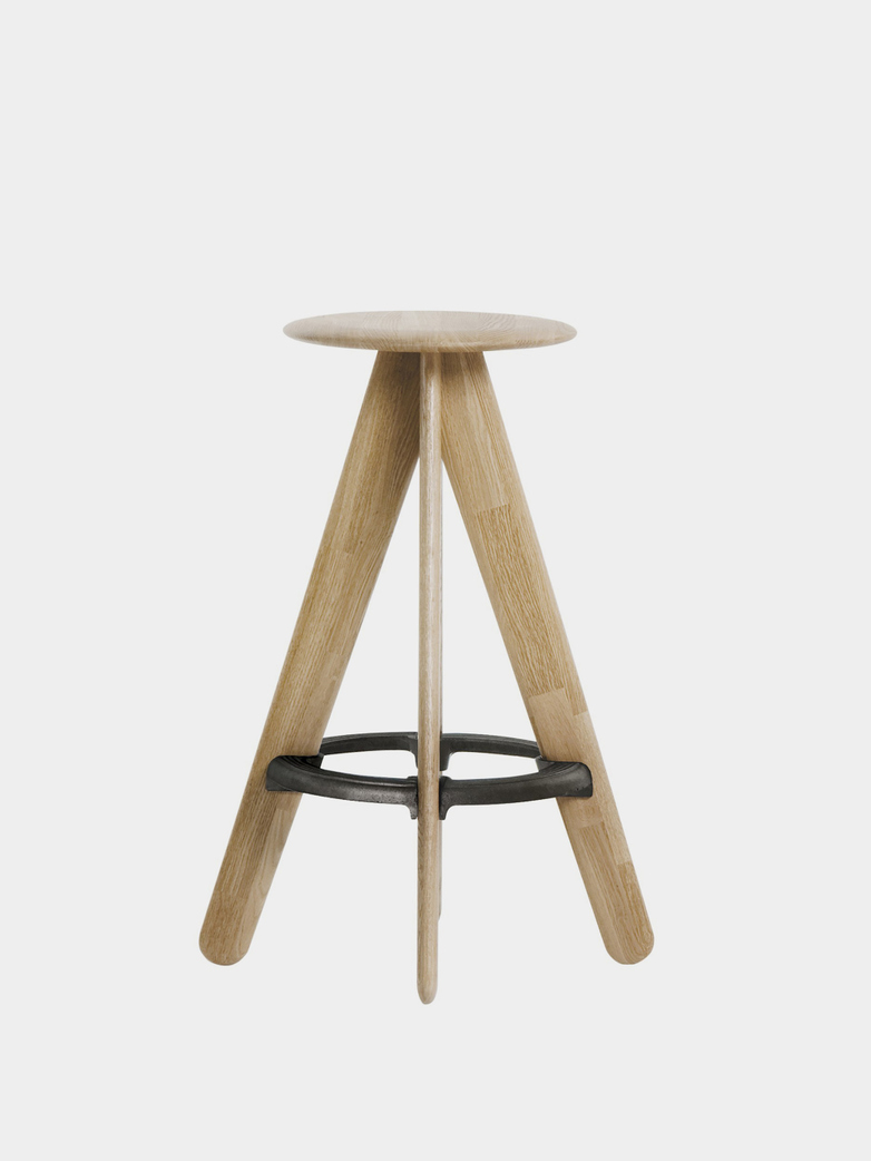 Slab Bar Stool - Natural