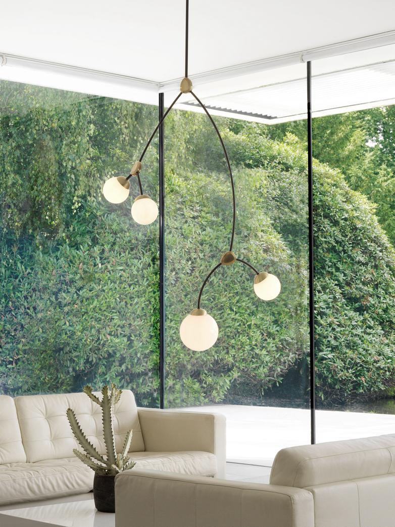 Ivy Vertical 4 - Opal Glass