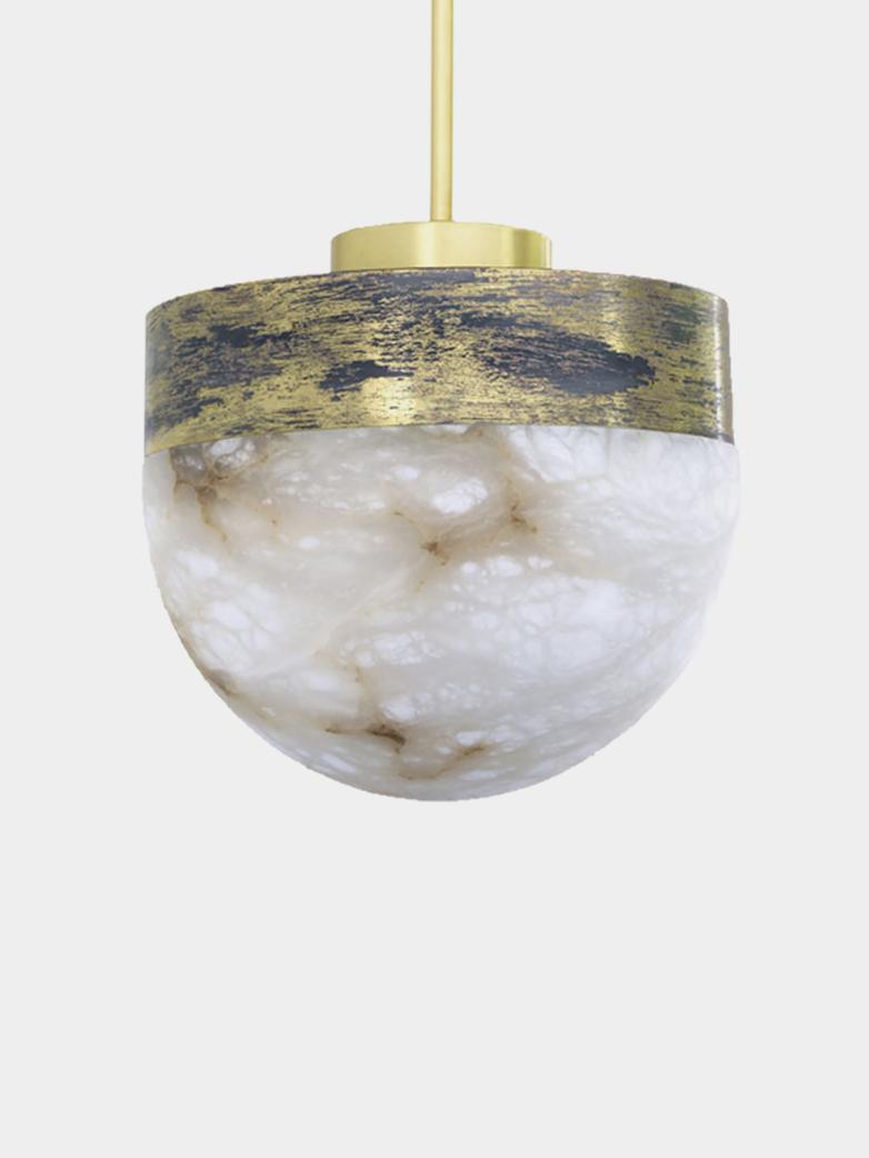 Lucid Pendant 30 cm - Oxidized Silvered Brass