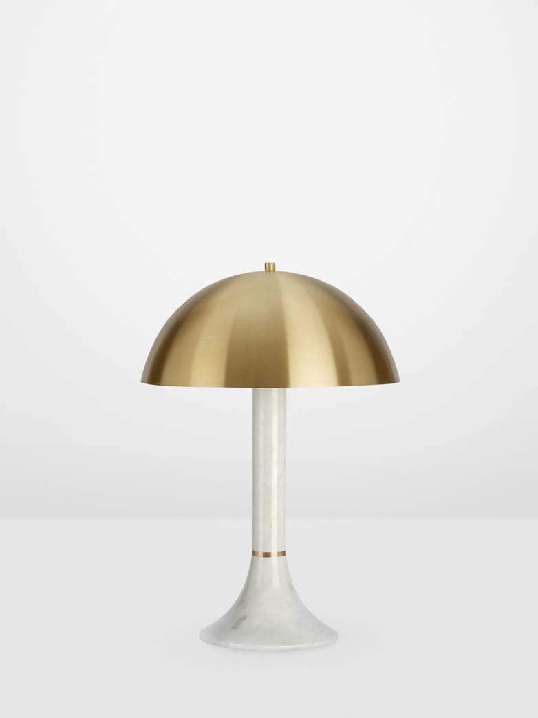 Regent Table Lamp - White Carrara Marble