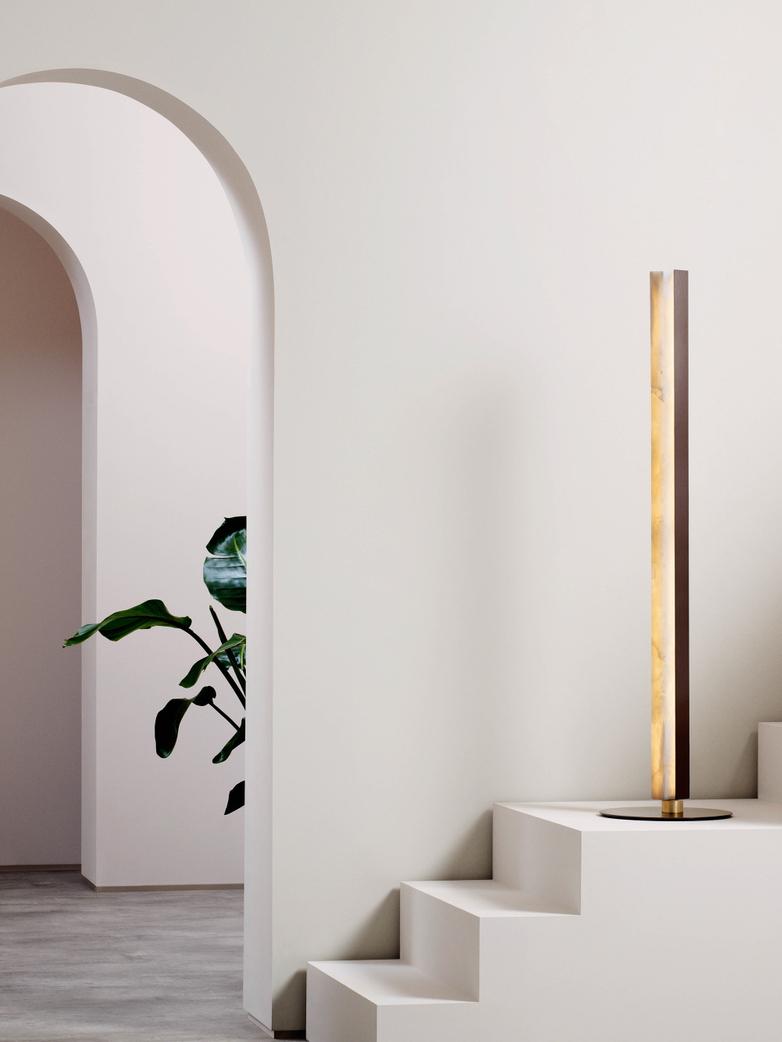 Artés Floor Lamp - Satin Brass