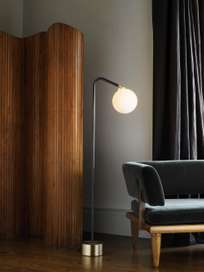 Oscar Floor Lamp - Satin Brass