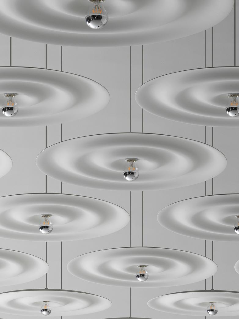 Alma w171 Pendant - Grey White