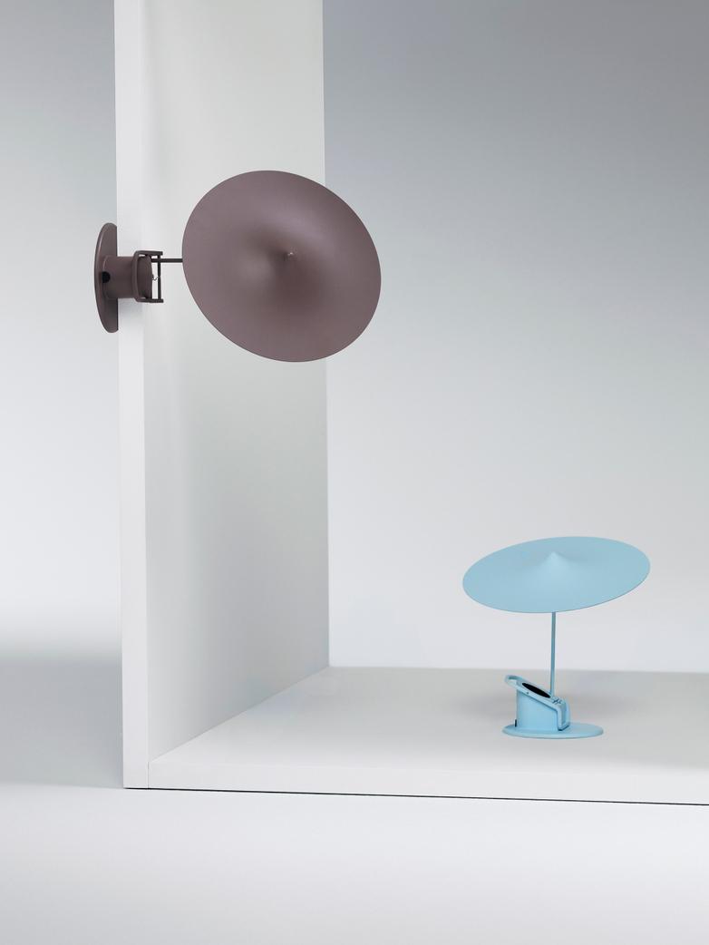 Île w153 Table Lamp - Grey Brown
