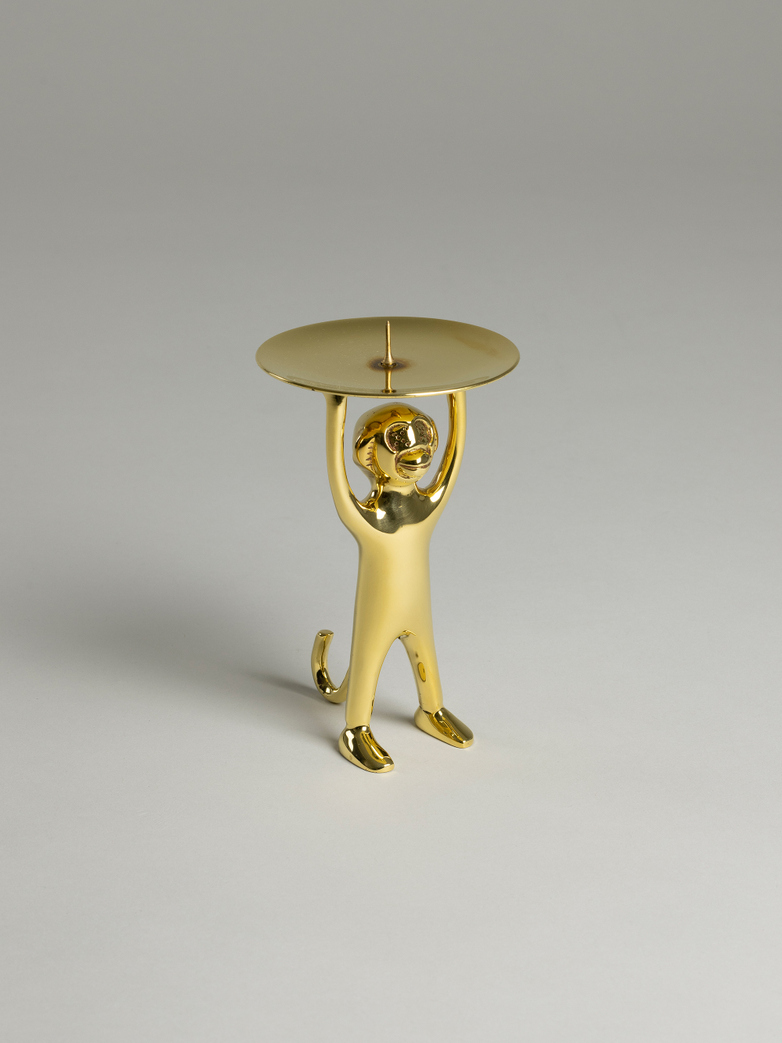 Monki Candle Holder – Polished Brass