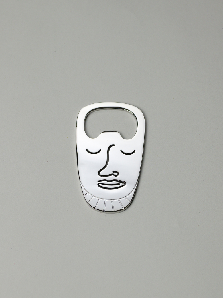 Popi-Pepa Bottle Opener Polished Steel
