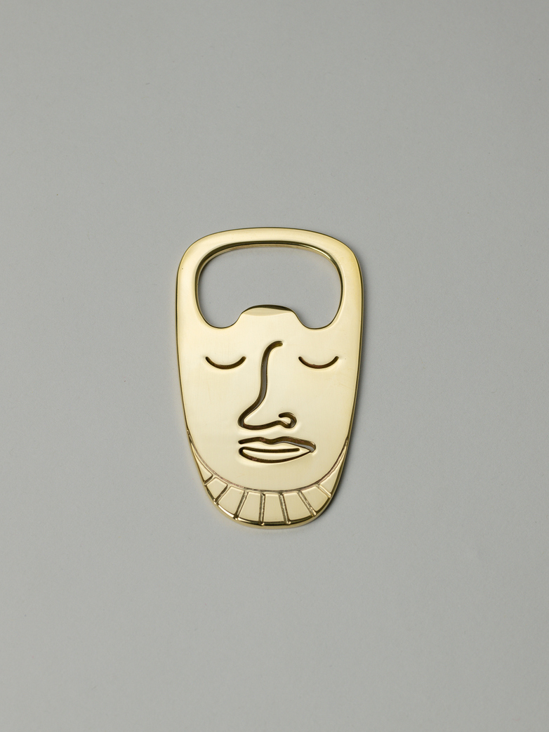 Popi-Pepa Bottle Opener Polished Brass