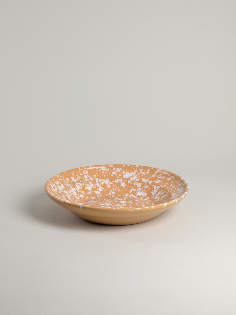 Spruzzi Vivente - Medium Serving Bowl - White on Terracotta