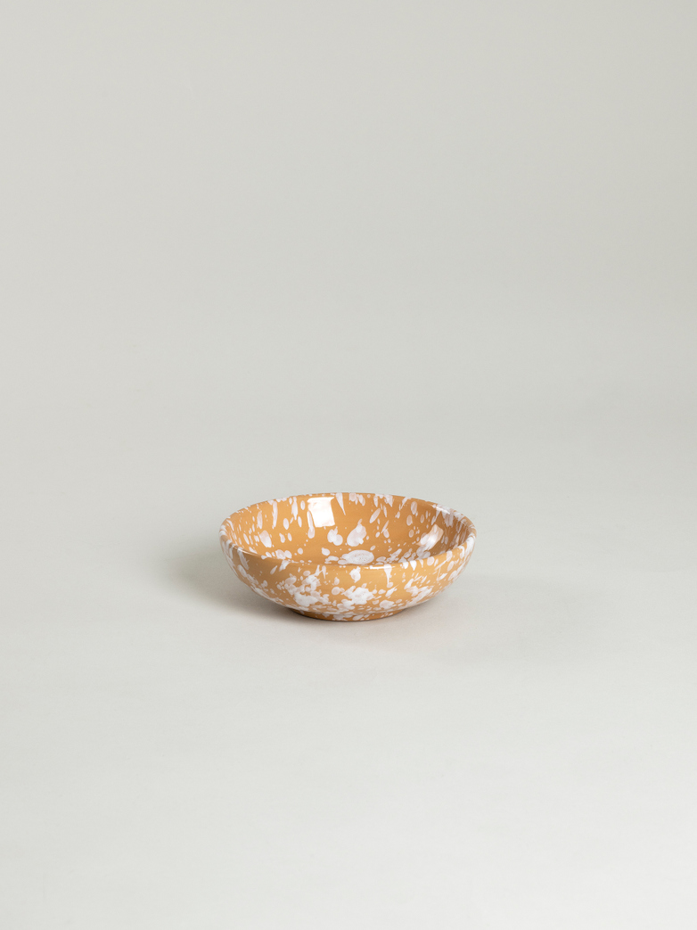 Spruzzi Vivente - Small Bowl - White on Terracotta