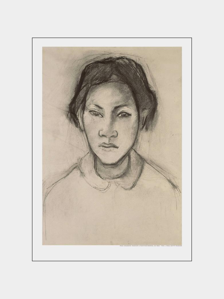 Tahitian Faces - Beige 40 x 50 cm