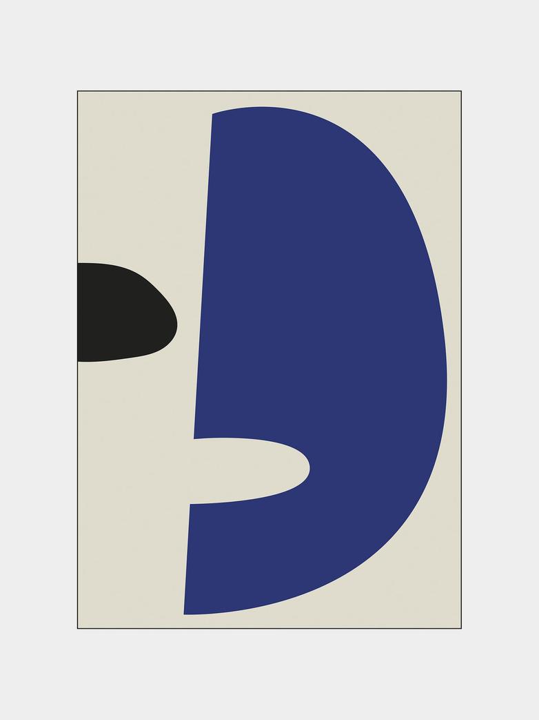 Wular - Blue Black - 30 x 40 cm