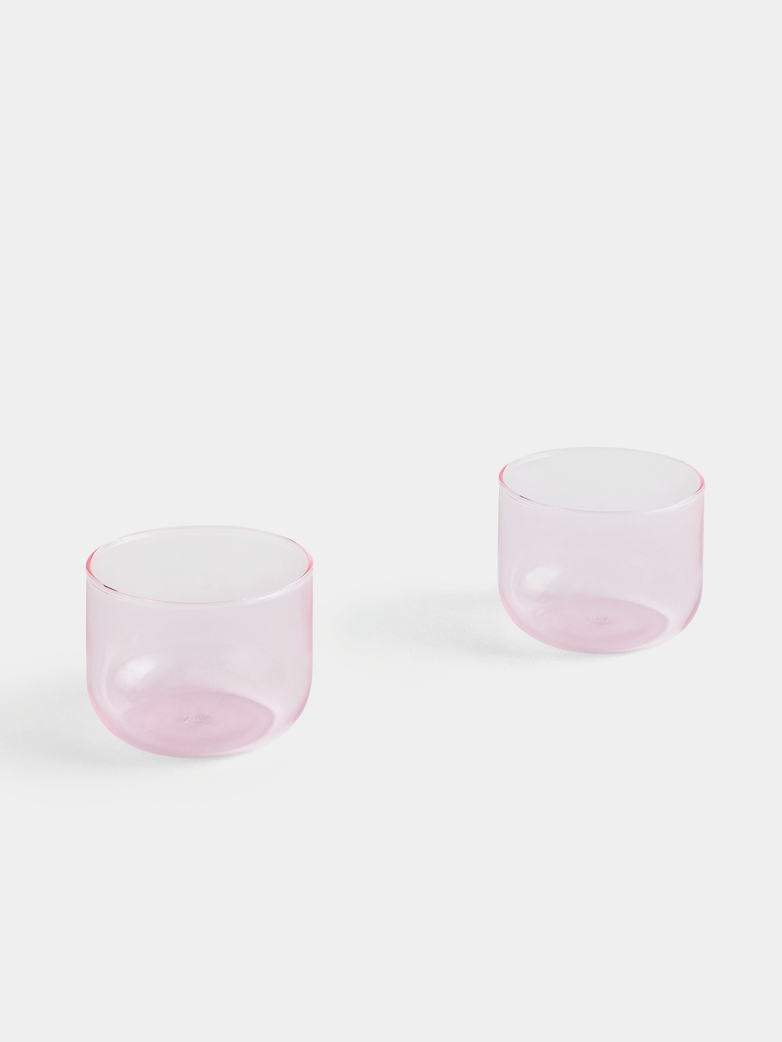 Tint Glass Pink Set of 2