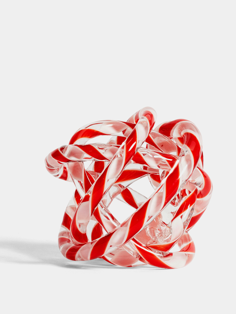Knot No 2 Red and White