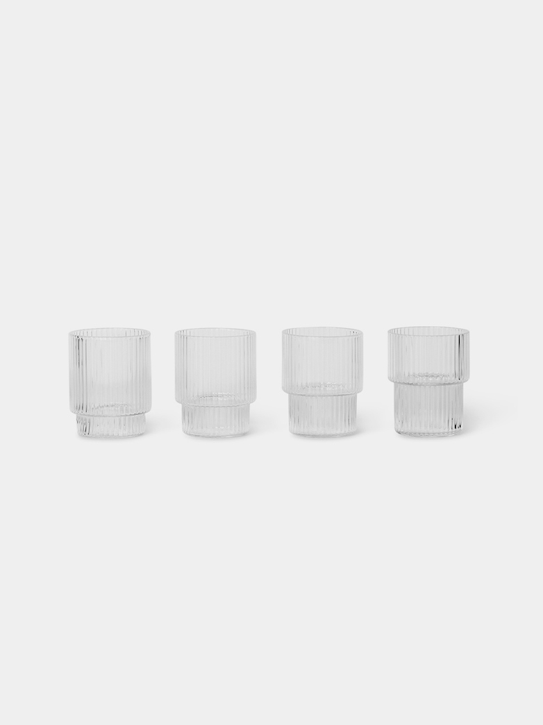 Ripple Small Glasses - Set of 4
