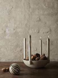 Bowl Candle Holder - Light Grey