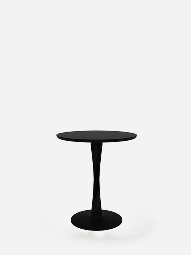 Torsion Dining Table – Oak Black – Ø70